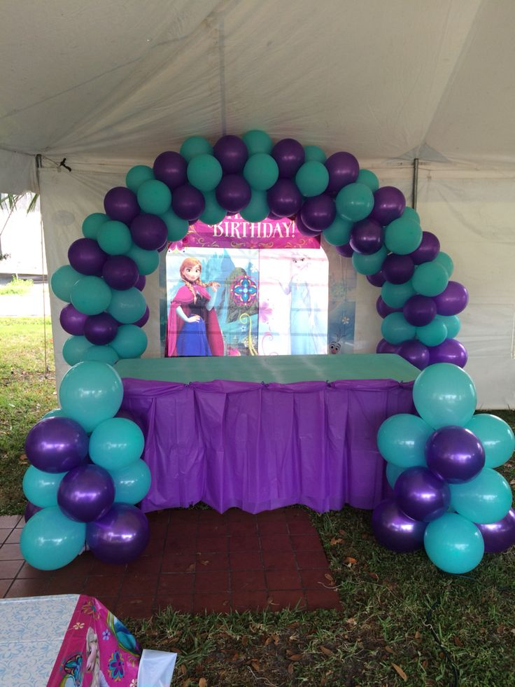 Balloon arch frozen them creaciones talyne pinterest for Balloon arch tape