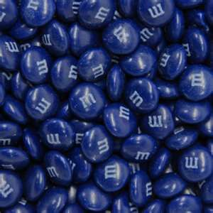 A N D   now......NoW.......NOW !!!!!!!  Royal Blue M and Ms ---just one more for my sweet tooth !
