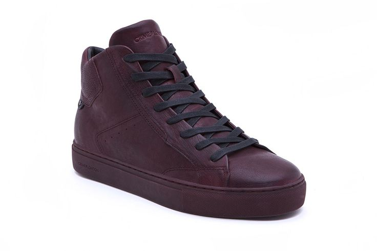 Fall in love with these Bordeaux leather high top sneakers. • Premium italian full grain leather high top • Leather and canvas lining • Rubber cup-sole • Color bordeaux • Fits true to size Product Number: 11416A17 71