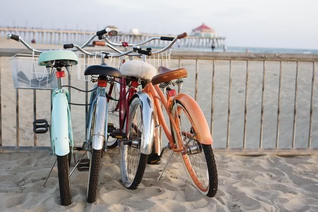 love the pastels on these bicycles