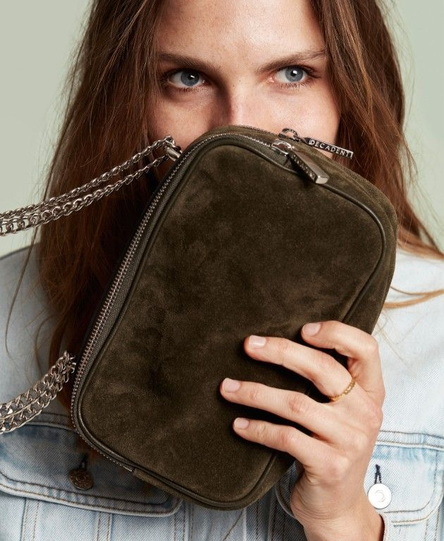 DECADENT Anabelle small bag, suede army