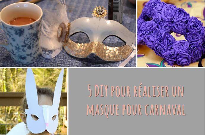 5 DIY pour faire un masque pour Mardi Gras