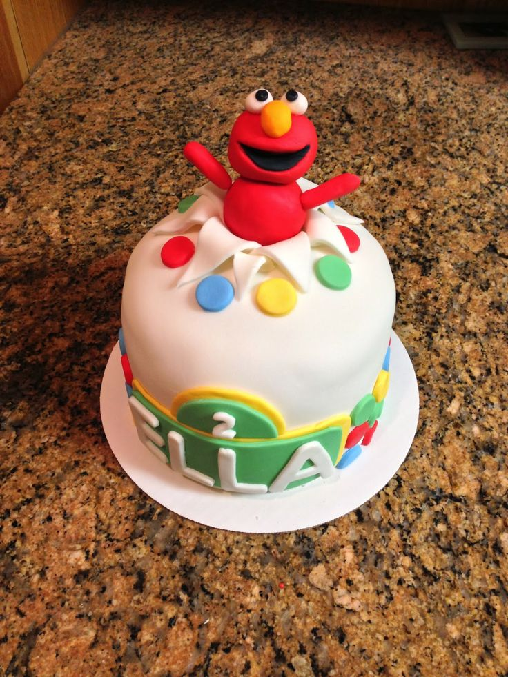 Elmo Surprise Cake Sesame Street Cake 7 Quot Baking Pan 3