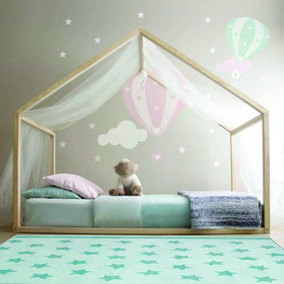 Toddler Canopy Style Bed Montessori Toddler Nursery Kids Room Bed Canopy Kids Montessori Nursery Room Style Todd Diy Kids Bed Kid Beds Kids Bed Frames