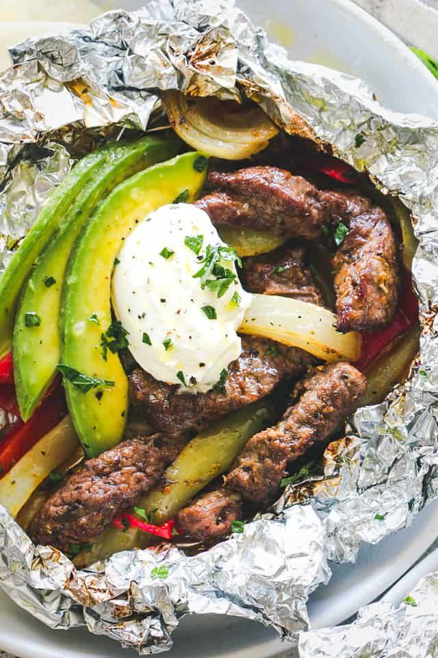 Fajitas with chili and lime steak in leaf packs – Tender, tasty and very easy to prepare …   – Freezer Meals