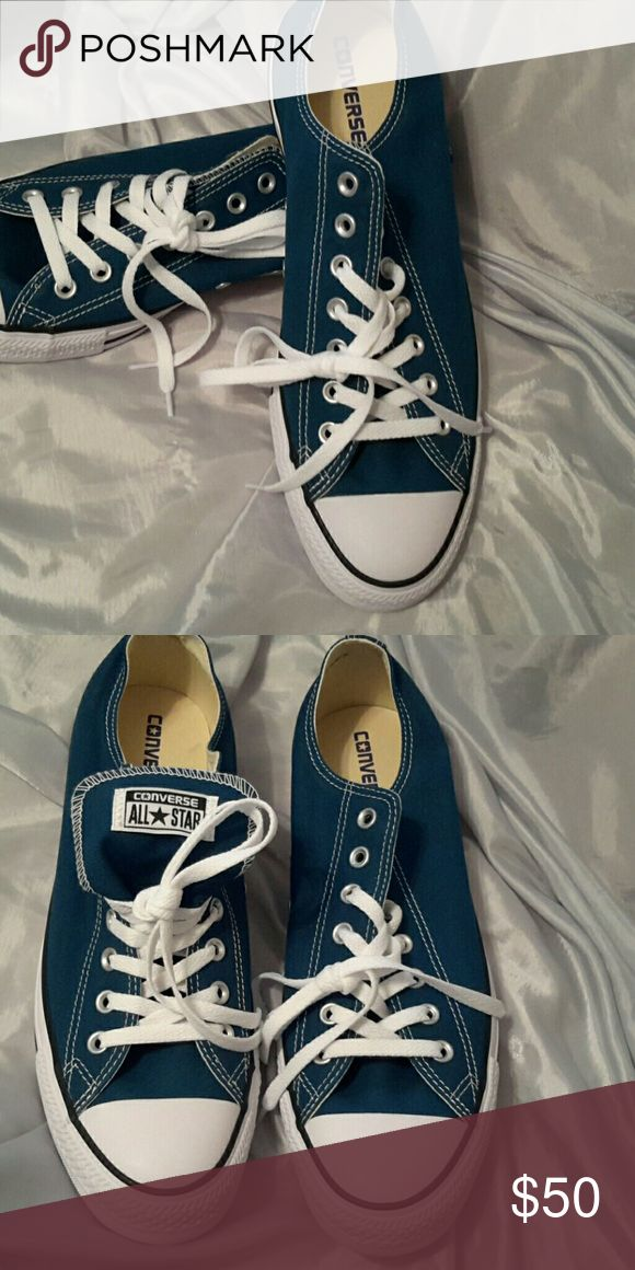 Men's converse all star size 11 NWOT Teal blue (eL) Converse Shoes Sneakers