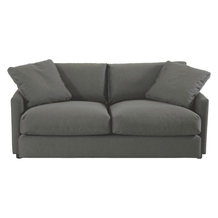 COLIN Charcoal fabric 2 seater sofa