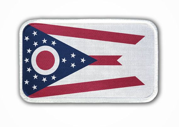 Patch Ohio State Flag Heat Seal / Iron on Patch for by TBirdTees