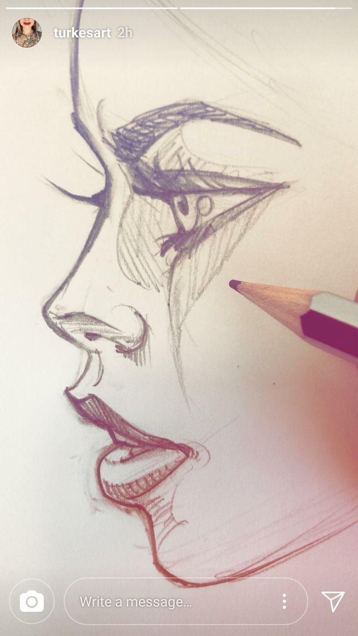 »Haarstrom» Kunst »Zeichnung» Inspiration »Il…