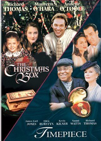 HALLMARK FILM The Christmas Box movie is available on DVD bundled with the prequel, Timepiece. Stars Richard Thomas, Maureen O'Hara and Annette O'Toole. Story from Richard Paul Evans' popular book of the same name.