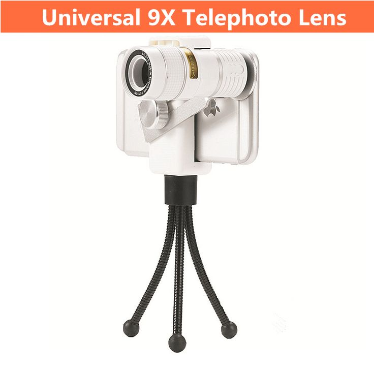 Mobile Phone Lens Universal 9X Phone Lens For iPhone / Samsung Smartphone Telephoto Lens with Tripod Optical Telephoto Zoom Lens //Price: $17.22//     #storecharger
