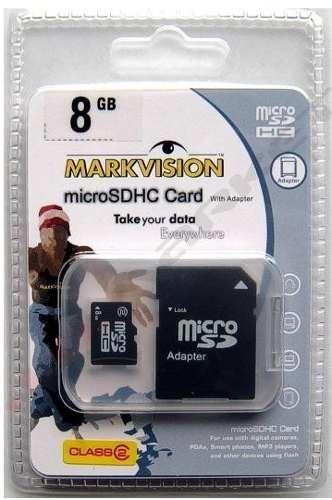 Memoria Micro Sd 8gb Markvision   Adaptador Sd - $ 14.990