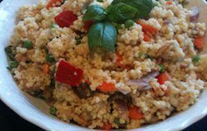 Couscous med kylling, lime og grønnsaker