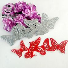 2016 Scrapbook DIY Metal Die cutting dies for DIY Scrapbooking Photo Album Decoretive Embossing Stencial A string of butterfly(China (Mainland))