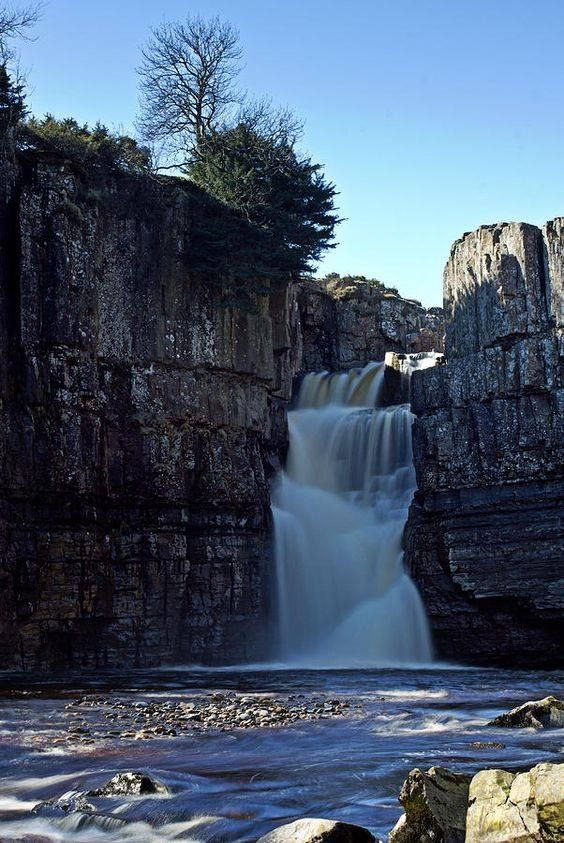 High Force Waterfall - Teesdale, County Durham, England.