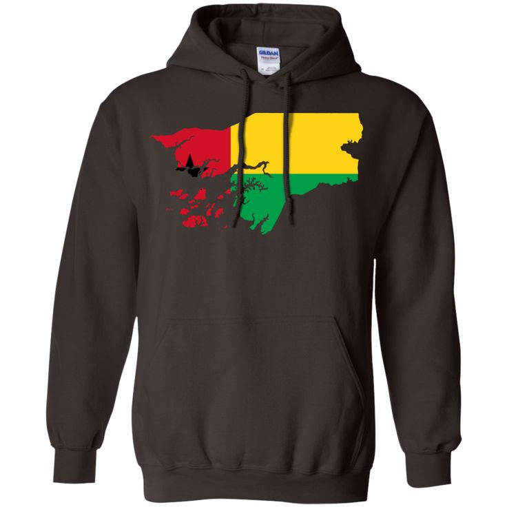 Guinea map flag Pullover Hoodie 8 oz
