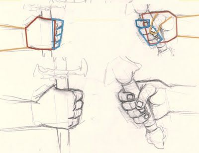 how to draw holding hands simple step by step