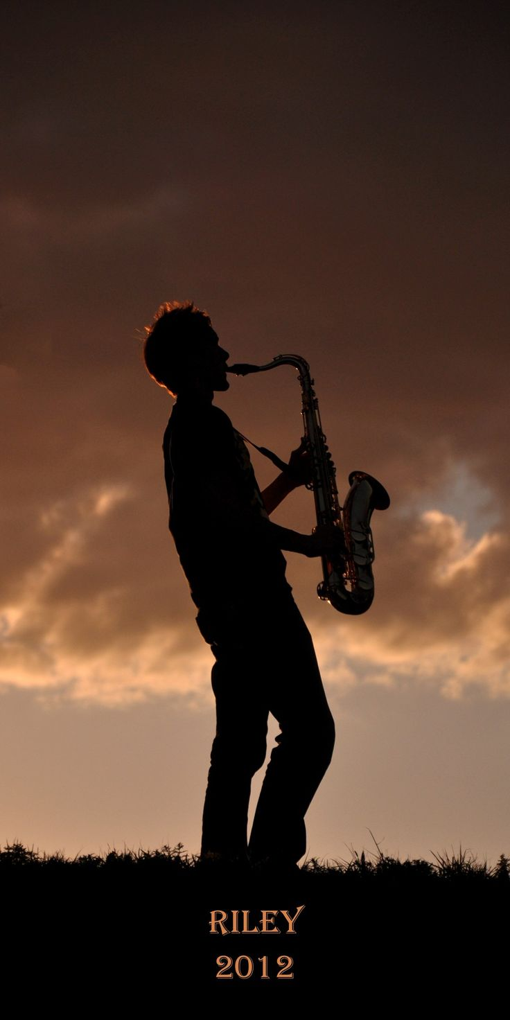 I do want to take some silhouettes of J with his trombone & a cool sky background - on our own.