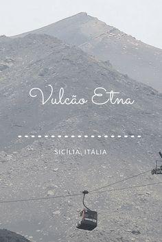 O Vulcão Etna, o maior vulcão ativo da Europa, com 3.329 metros de altura. Antes mesmo de chegar você já vê os efeitos que ele causa, pois lavas vulcânicas estão por todo lado. Engraçado é que existem várias casas com pessoas morando até os dias de hoje.