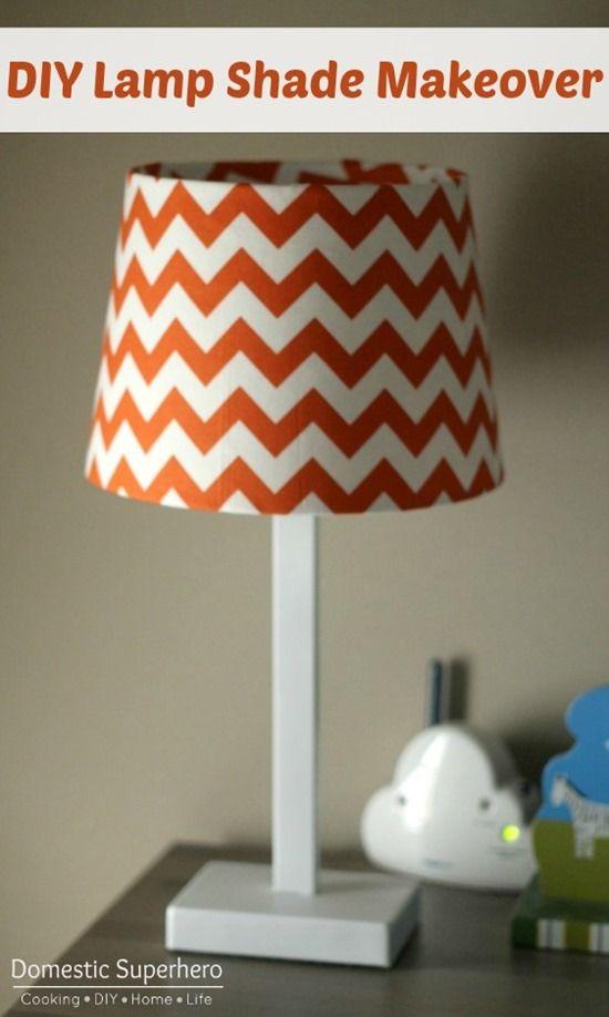 DIY Lamp Shade Makeover