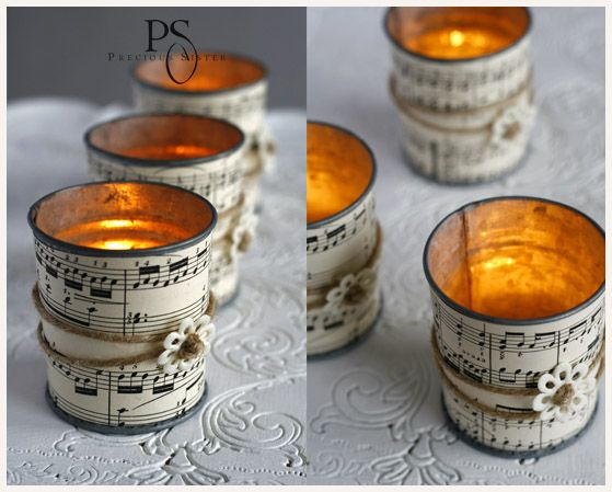 several cute ideas for decorating with notes paper
