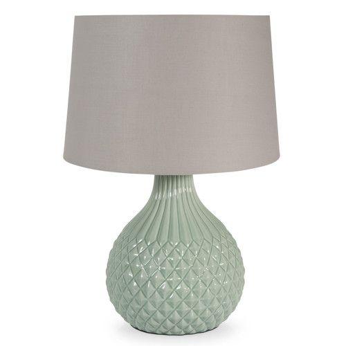 Lámpara de cerámica verde H 43 cm GARDENIA
