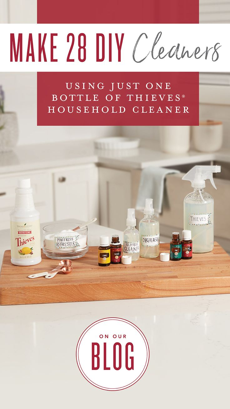 Make 28 DIY cleaners with just one bottle of Thieves