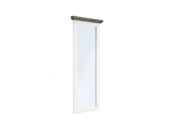 GOMERA Spegel 59x145 Vit/Brunlasyr i gruppen Inomhus / Accessoarer / Speglar hos Furniturebox (100-58-91393)