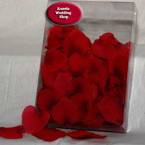 Red Heart Shape Petals - 300 piece