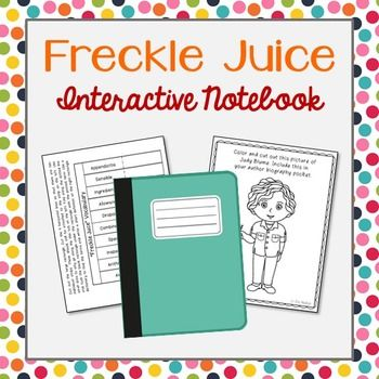 freckle juice book report A complete novel study for the book 'freckle juice' written by judy blume: the novel study is compiled by joel reed, and contains a total of forty two pages of content.