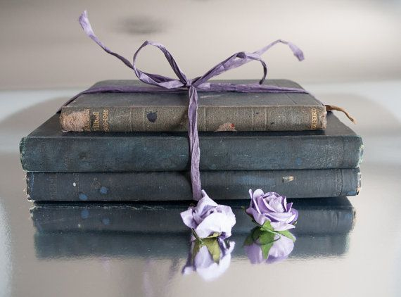 Bundle of vintage 1940s English  poetry books with by freshdarling