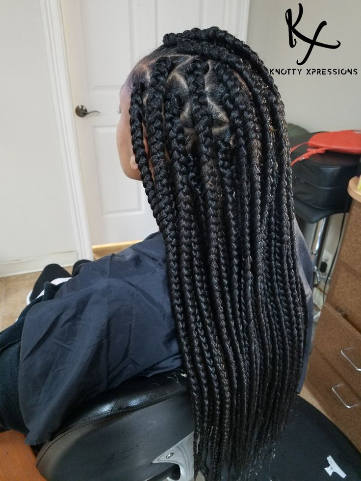 Triangle Box Braids Www Knotty Xpressions Com Triangle