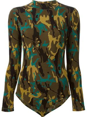 'JUNIOR GAULTIER' camo print body