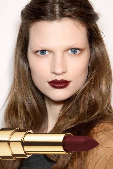 Deep bordeaux lips spotted at  - beautiful