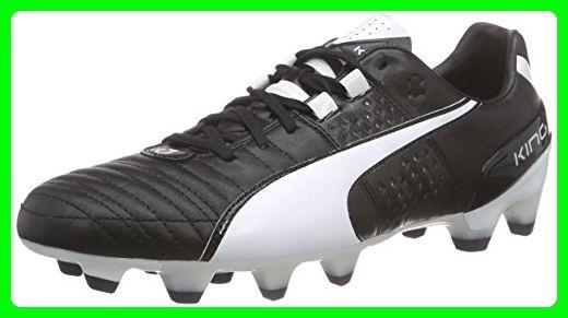 Puma King II FG Football Boots - Adult - Black/White - UK Shoe Size 8