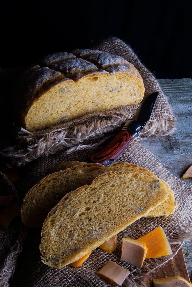 La asaltante de dulces: Receta de Hogaza de calabaza y pipas/ Pumpkin & sunflower seeds bread recipe