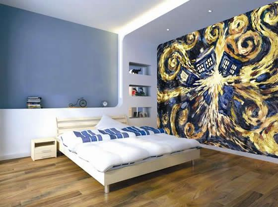 doctor who room link takes you to where to buy the exploding tardis wallpaper - Dr Who Bedroom Ideas