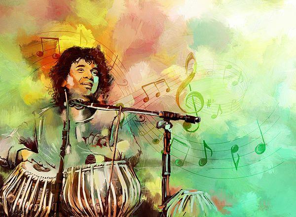 Zakir Hussain Painting
