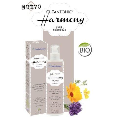 CLEANTONIC® HARMONY - Piel sensible Tónico, desmaquillante y antipolución. Respeta, limpia y tonifica tu piel. Sin alcohol, sin sulfatos, sin detergentes.