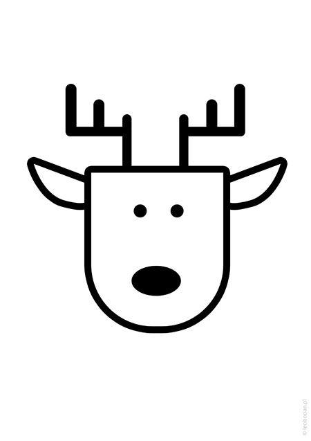 Plakat świąteczny renifer