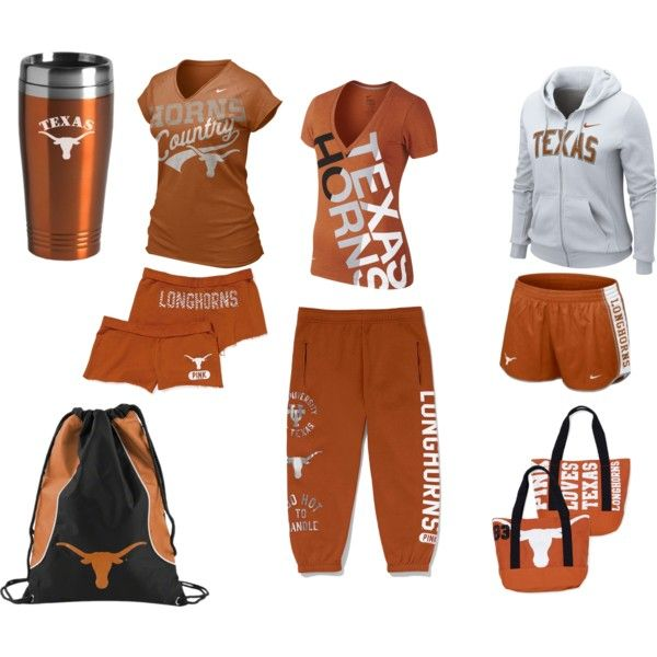 Texas Longhorns, created by graciaweston on Polyvore