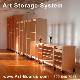 Art Storage System proudly made in Brooklyn New York by Art Boards™ Archival Art Supply.