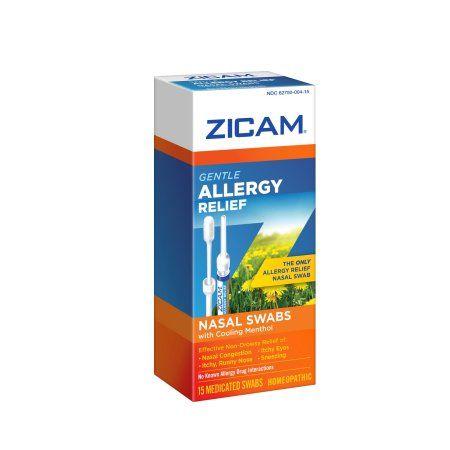 Zicam Gentle Allergy Relief Nasal Swabs with Cooling Menthol, 15 Ct, Multicolor