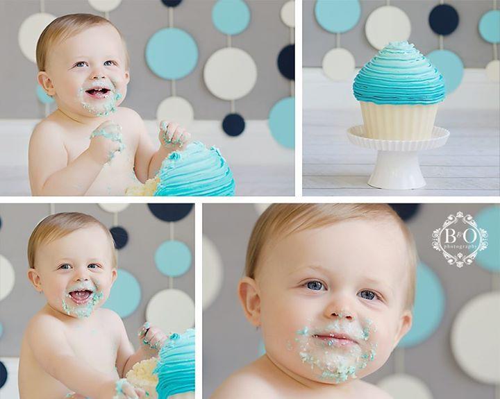 modern smash cake teal navy #boydandolsonphotography smash cake photography https://www.facebook.com/BoydandOlsonPhotographyLLC