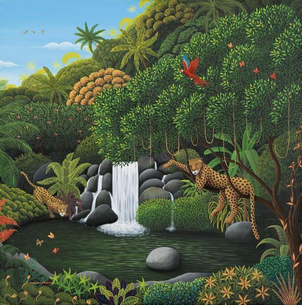 Catherine Musnier Peintre / Art naïf, animalier - Présentation de l'artiste et de son travail... Art naïf, peinture animalière jungles et fé...