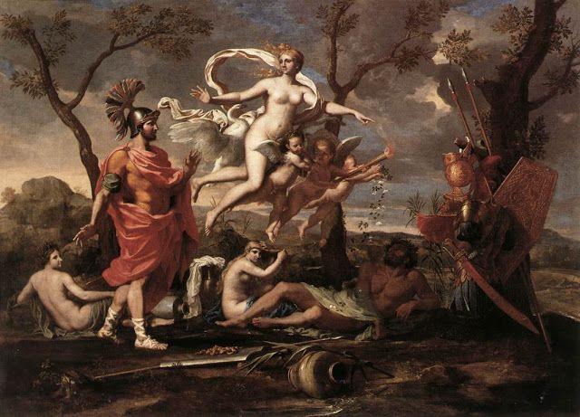 H Αφροδίτη παρουσιάζει τα όπλα στον Αινεία (1639)