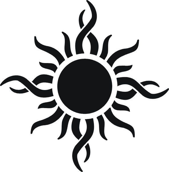 The sun tattoos would symbolize a source of hope, vitality, eternal power, renewing youth, passion, courage, happiness and light.