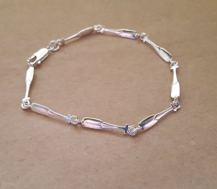 Bracelet - PADDLE OARS - Sterling Silver or 9ct Gold