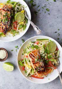 Teriyaki Salmon with Asian Noodle Salad