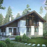 Проект бетонного дома 55-84 :: Интернет-магазин Plans.ru :: Готовые проекты домов